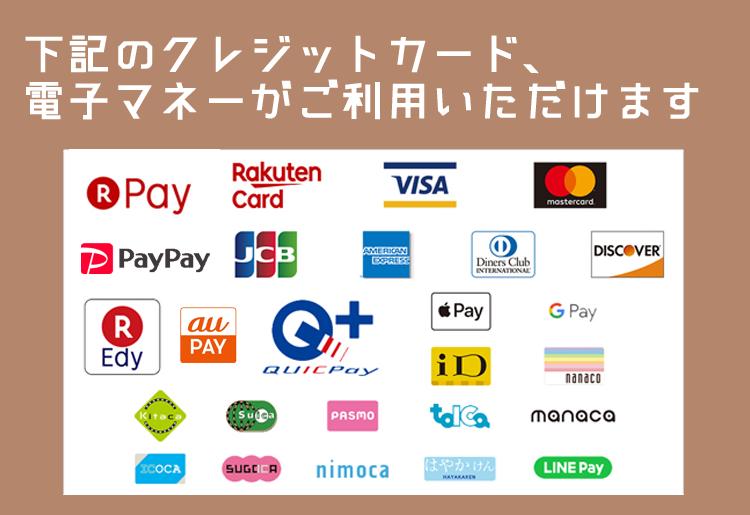 クレジットカード・電子マネー一覧